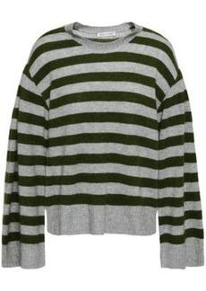 Rebecca Minkoff Woman Striped Cashmere Sweater Leaf Green