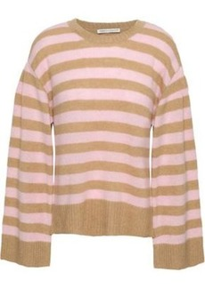 Rebecca Minkoff Woman Striped Cashmere Sweater Sand