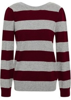 Rebecca Minkoff Woman Striped Wool And Cashmere-blend Sweater Gray