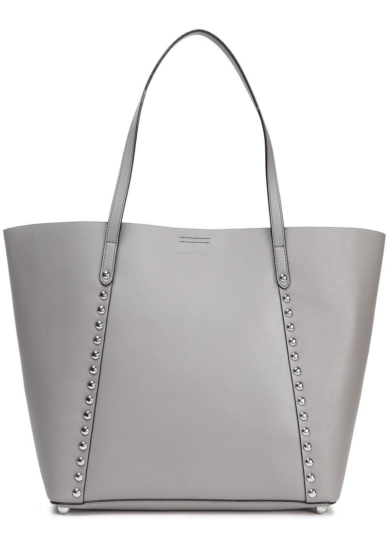 Rebecca Minkoff Woman Studded Leather Tote Gray