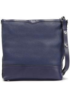 Rebecca Minkoff Woman Studded Smooth And Textured-leather Shoulder Bag Navy
