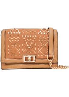 Rebecca Minkoff Woman Studded Suede And Leather Shoulder Bag Camel