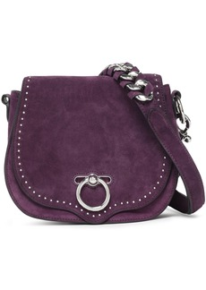 Rebecca Minkoff Woman Studded Suede And Leather Shoulder Bag Purple