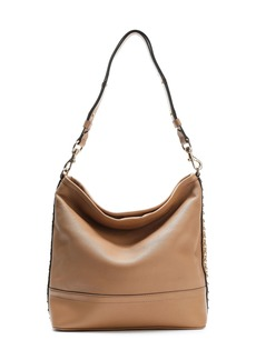 Rebecca Minkoff Woman Studded Textured-leather Shoulder Bag Brown