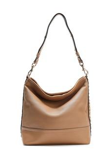Rebecca Minkoff Woman Studded Textured-leather Shoulder Bag Brown