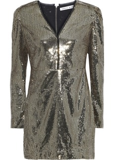 Rebecca Minkoff Woman Sydney Sequined Tulle Mini Dress Gold