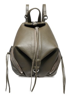 Rebecca Minkoff Woman Julian Convertible Pebbled-leather Backpack Army Green