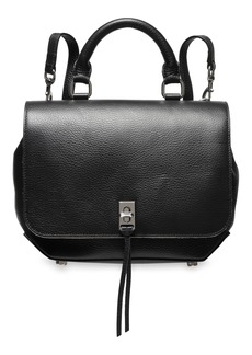 Rebecca Minkoff Woman Textured-leather Backpack Black