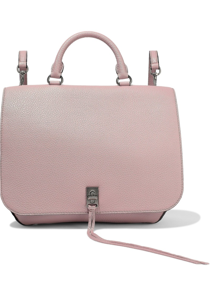 Rebecca Minkoff Woman Textured-leather Backpack Blush