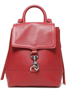 Rebecca Minkoff Woman Textured-leather Backpack Claret