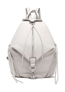 Rebecca Minkoff Woman Textured-leather Backpack Light Gray