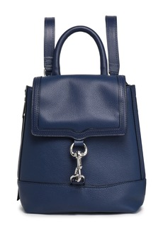 Rebecca Minkoff Woman Textured-leather Backpack Navy