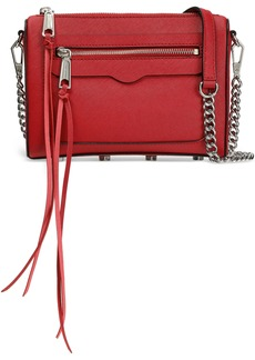 Rebecca Minkoff Woman Textured-leather Shoulder Bag Claret