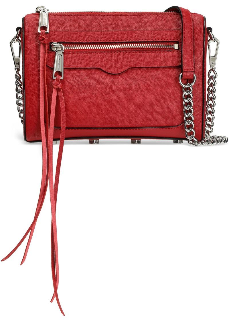 Rebecca Minkoff Woman Textured-leather Shoulder Bag Claret
