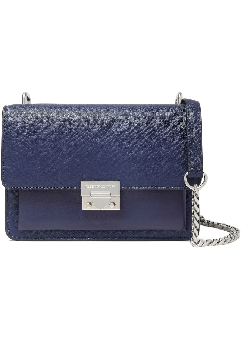 Rebecca Minkoff Woman Textured-leather Shoulder Bag Navy