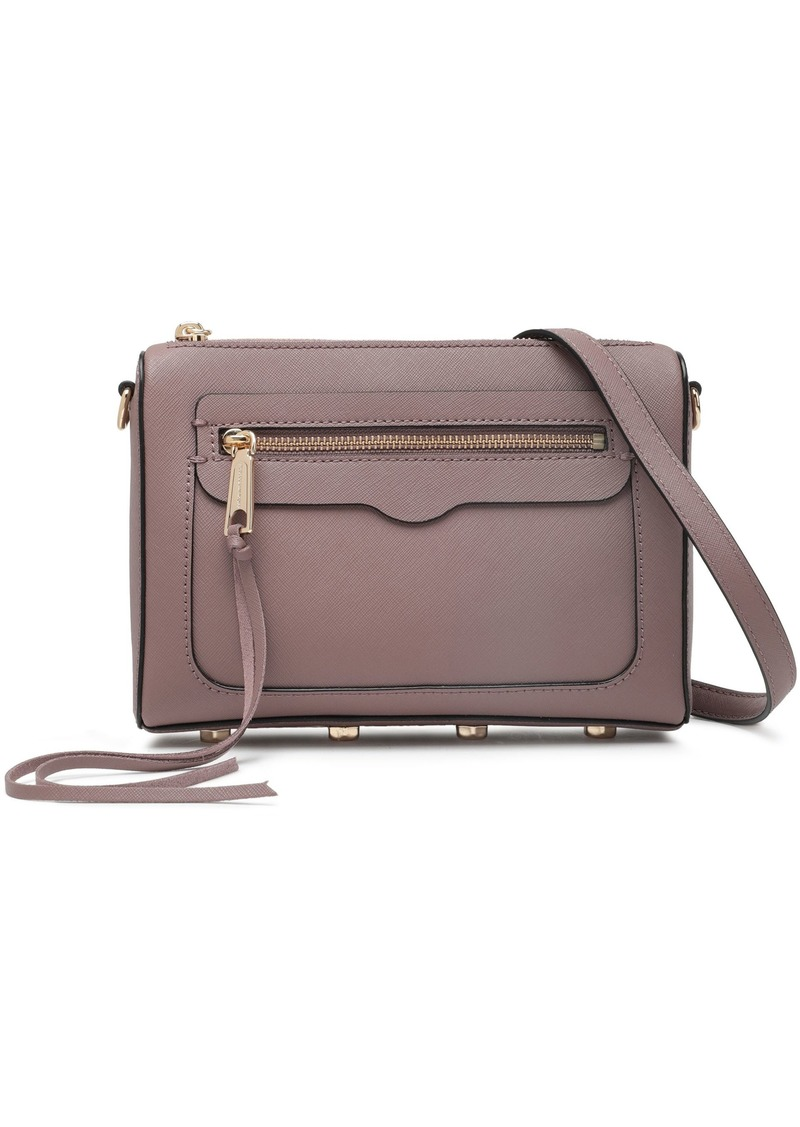 Rebecca Minkoff Woman Textured-leather Shoulder Bag Taupe