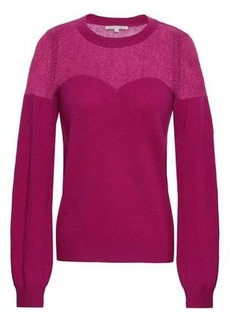 Rebecca Minkoff Woman Wool And Cashmere-blend Sweater Magenta