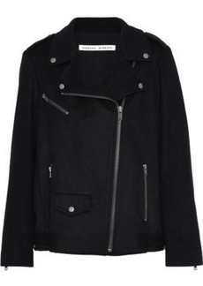 Rebecca Minkoff Woman Wool-blend Biker Jacket Black