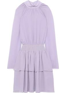Rebecca Minkoff Woman Zaykee Tiered Shirred Georgette Mini Dress Lilac