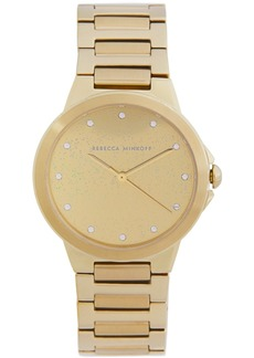 Rebecca Minkoff Women's Cali Gold-Tone Stainless Steel Bracelet Watch 34mm