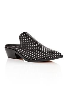 Rebecca Minkoff Women's Karynah Glitter Mid-Heel Mules