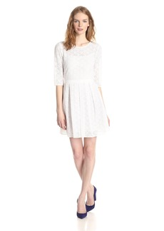 Rebecca Minkoff Women's Lacey Fit and Flare Lace Dress