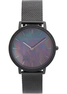 Rebecca Minkoff Women's Major Black Stainless Steel Mesh Bracelet Watch 35mm