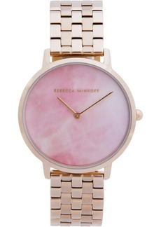 Rebecca Minkoff Women's Major Carnation Gold-Tone Stainless Steel Bracelet Watch 35mm