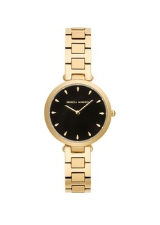 Rebecca Minkoff Womens Major Gold Stainless Steel Watch 33MM