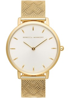 Rebecca Minkoff Women's Major Gold-Tone Stainless Steel Bracelet Watch 35mm