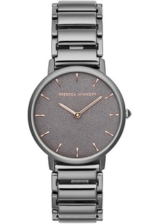 Rebecca Minkoff Women's Major Gunmetal Gray Stainless Steel Bracelet Watch 35mm