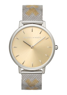Rebecca Minkoff Women's Major Two-Tone Stainless Steel Mesh Bracelet Watch 35mm