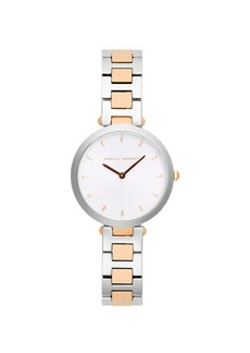 Rebecca Minkoff Womens Major Two Tone Stainless Steel Watch 33MM