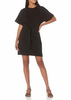 Rebecca Minkoff Women's Marta Short Sleeve Knit Dress  Extra Small