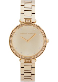 Rebecca Minkoff Women's Nina Gold-Tone Stainless Steel Bracelet Watch 33mm