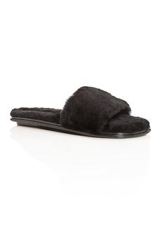 Rebecca Minkoff Women's Palah Shearling Slide Sandals