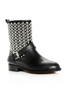 Rebecca Minkoff Women's Saida Studded Leather Moto Boots
