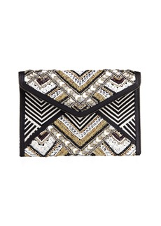 Rebecca Minkoff Wonder Leo Beaded Clutch Bag