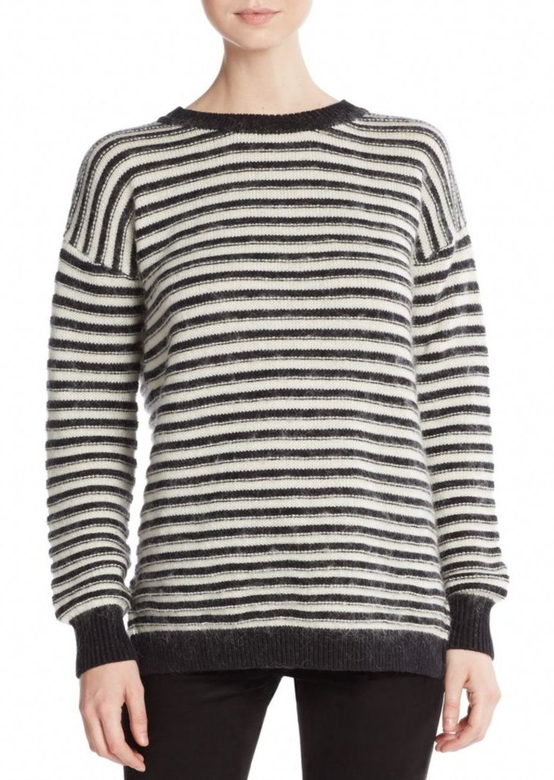 Rebecca Minkoff Worth Striped Flyaway-Back Sweater