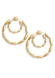 Rebecca Minkoff Sadie Front Facing Double Hoop Earrings