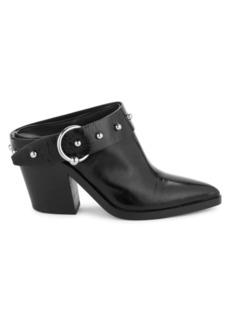 Rebecca Minkoff Sallest Studded Leather Heeled Mules