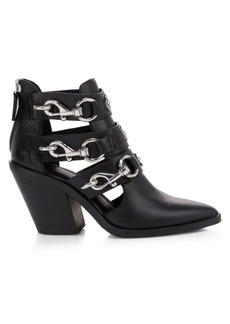 Rebecca Minkoff Seavie Dog Clip Buckle Leather Ankle Boots