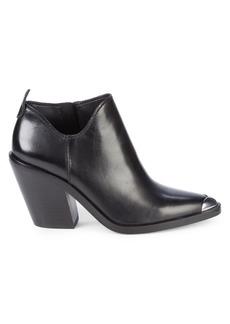 Rebecca Minkoff Seiji Western Stack-Heel Leather Booties