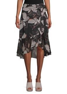 Rebecca Minkoff Selena Printed Wrap Skirt