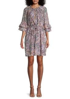 Rebecca Minkoff Serafina Floral Bell-Sleeve Dress