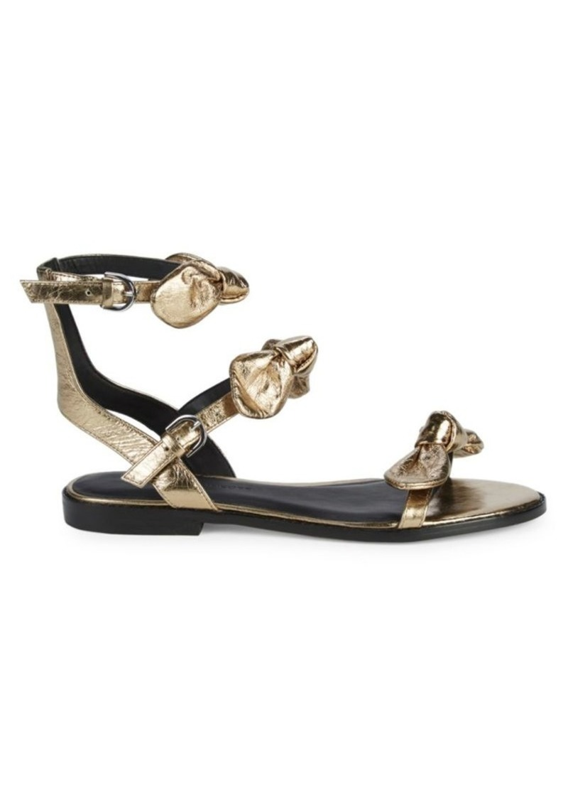 Rebecca Minkoff Shaya Metallic Ankle-Strap Sandals