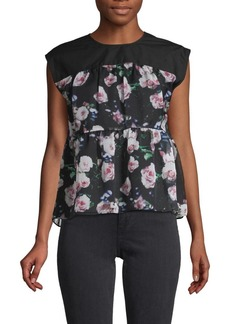 Rebecca Minkoff Sleeveless Floral Top