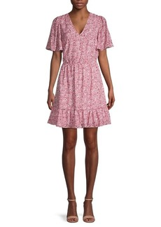 Rebecca Minkoff Sorcha Printed Flutter-Sleeve Dress