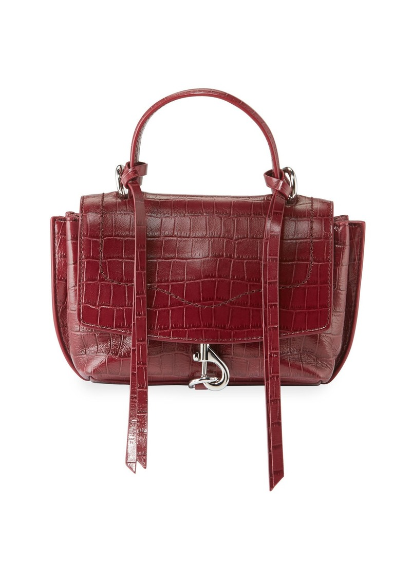 Rebecca Minkoff Stella Mini Crocodile-Embossed Crossbody Bag