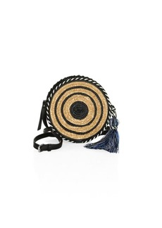 Rebecca Minkoff Straw Circle Crossbody Bag